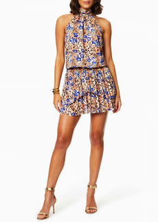 Ramy Brook Delilah Mixed Print Tiered Ruffle Sleeveless Dress