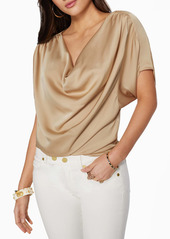 Ramy Brook Dorothy Draped Satin Top