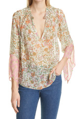 Ramy Brook Genevieve Floral Bell Sleeve Blouse