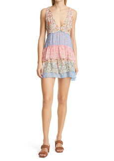 Ramy Brook Gigi Tiered Floral Print Minidress