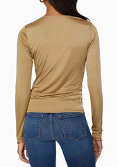 Ramy Brook Gillian Cowl Neck Long Sleeve Top