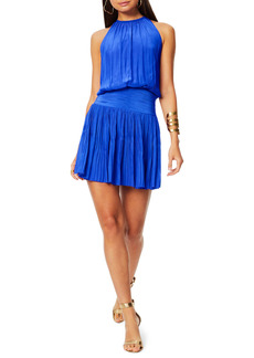 Ramy Brook Jacqueline Halter Neck Ruched Minidress