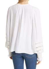 Ramy Brook Lace Detail Peasant Blouse