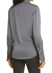 Ramy Brook Maxwell Twist Front Button-Up Top