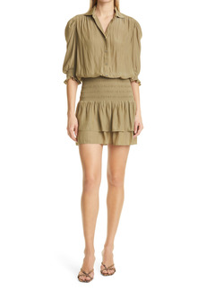 Ramy Brook Royce Smock Waist Shirtdress