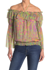 Ramy Brook Shaylyn Printed Off-The-Shoulder Top
