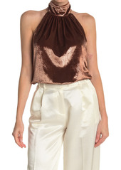 Ramy Brook Velvet Halter Mock Neck Top