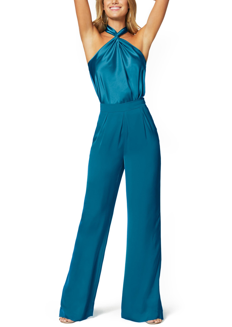 Women's Ramy Brook Convertible Stretch Silk Charmeuse Top
