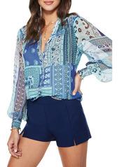 Women's Ramy Brook Shane Print Silk Top