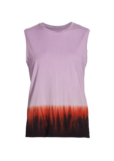 Raquel Allegra Graphic Fitted Muscle Tank