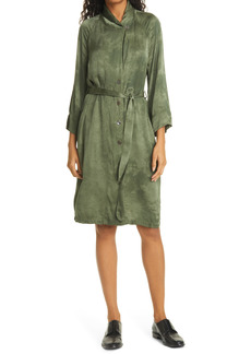 Raquel Allegra Tie Dye Button-Up Belted Dress