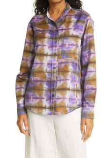 Raquel Allegra Tie Dye Button-Up Shirt