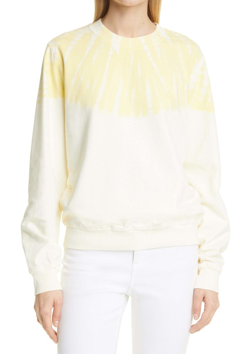 Raquel Allegra Tie Dye Cotton Sweatshirt