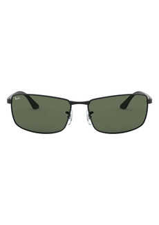 Ray-Ban 61mm Rectangle Wrap Sunglasses