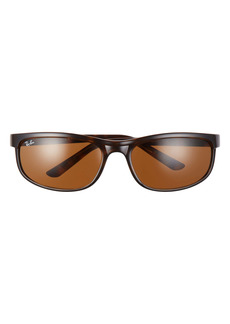 Ray-Ban 62mm Oversize Rectangle Wrap Sunglasses