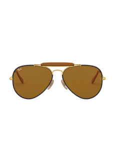 Ray-Ban RB3422 58MM Outdoorsman Aviator Sunglasses
