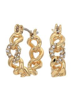 Rebecca Minkoff Pave Link Mini Hoops Earrings