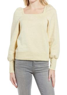 Rebecca Minkoff Ariel Square Neck Puff Sleeve Sweatshirt