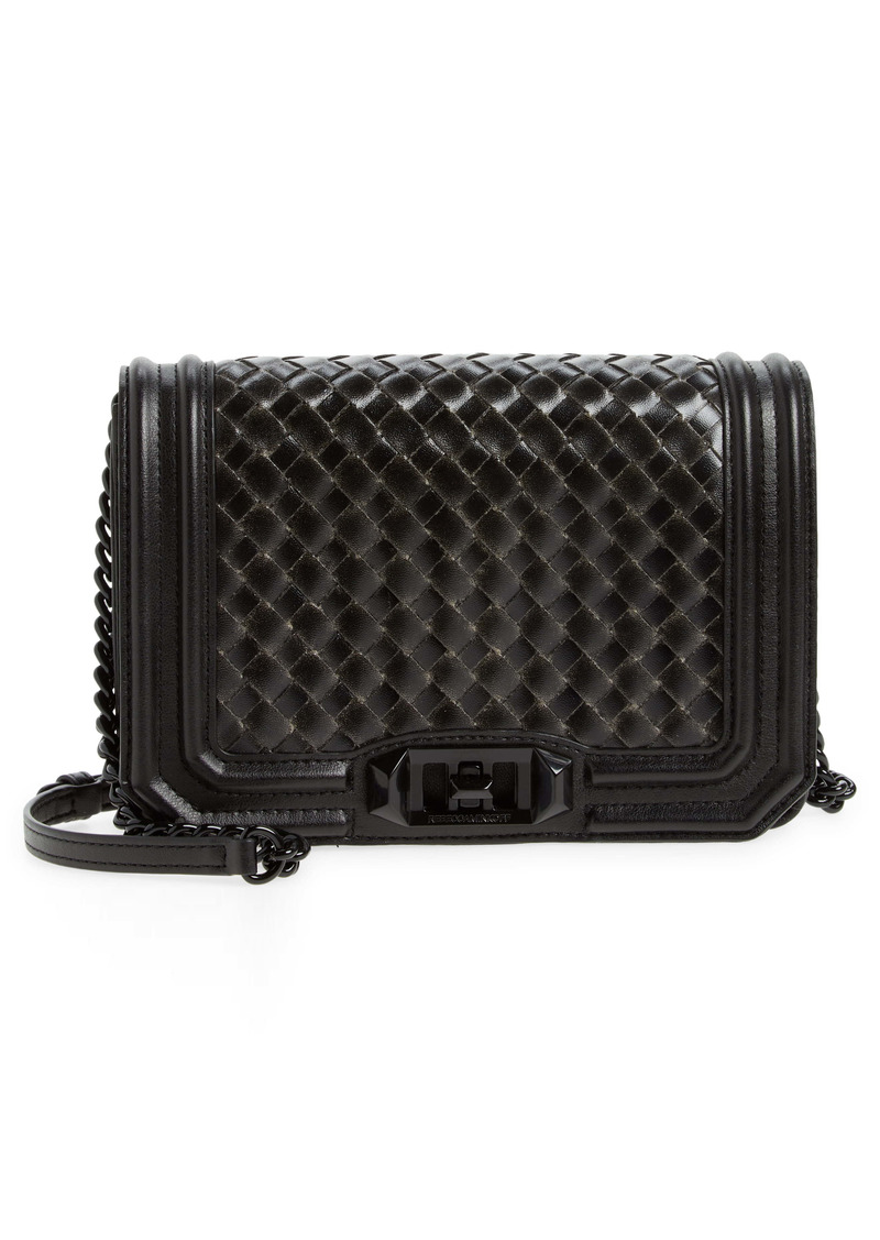 Rebecca Minkoff Chevron Quilted Love Faux Leather Crossbody Bag
