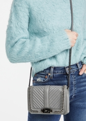 Rebecca Minkoff Chevron Quilted Small Love Crossbody Bag with Chain Inset