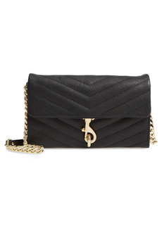 Rebecca Minkoff Edie Quilted Leather Wallet on a Chain