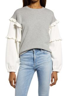 Rebecca Minkoff Evelyn Rufffle Sleeve Sweatshirt