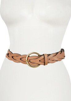 Rebecca Minkoff Interlocked Woven Leather Belt