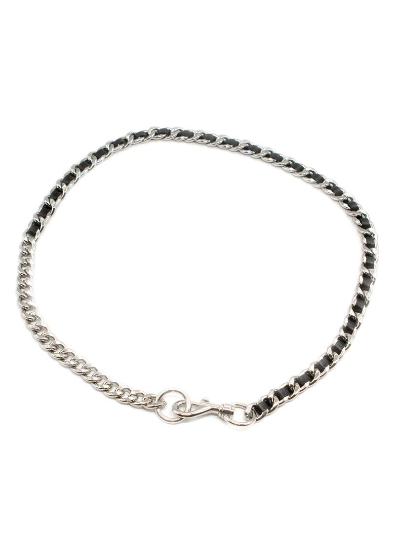 Rebecca Minkoff Leather Chain Belt