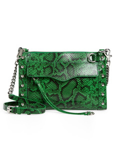 Rebecca Minkoff MAB Snake Embossed Leather Crossbody Bag with Studs