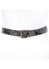 Rebecca Minkoff Reversible Python Embossed Leather Belt