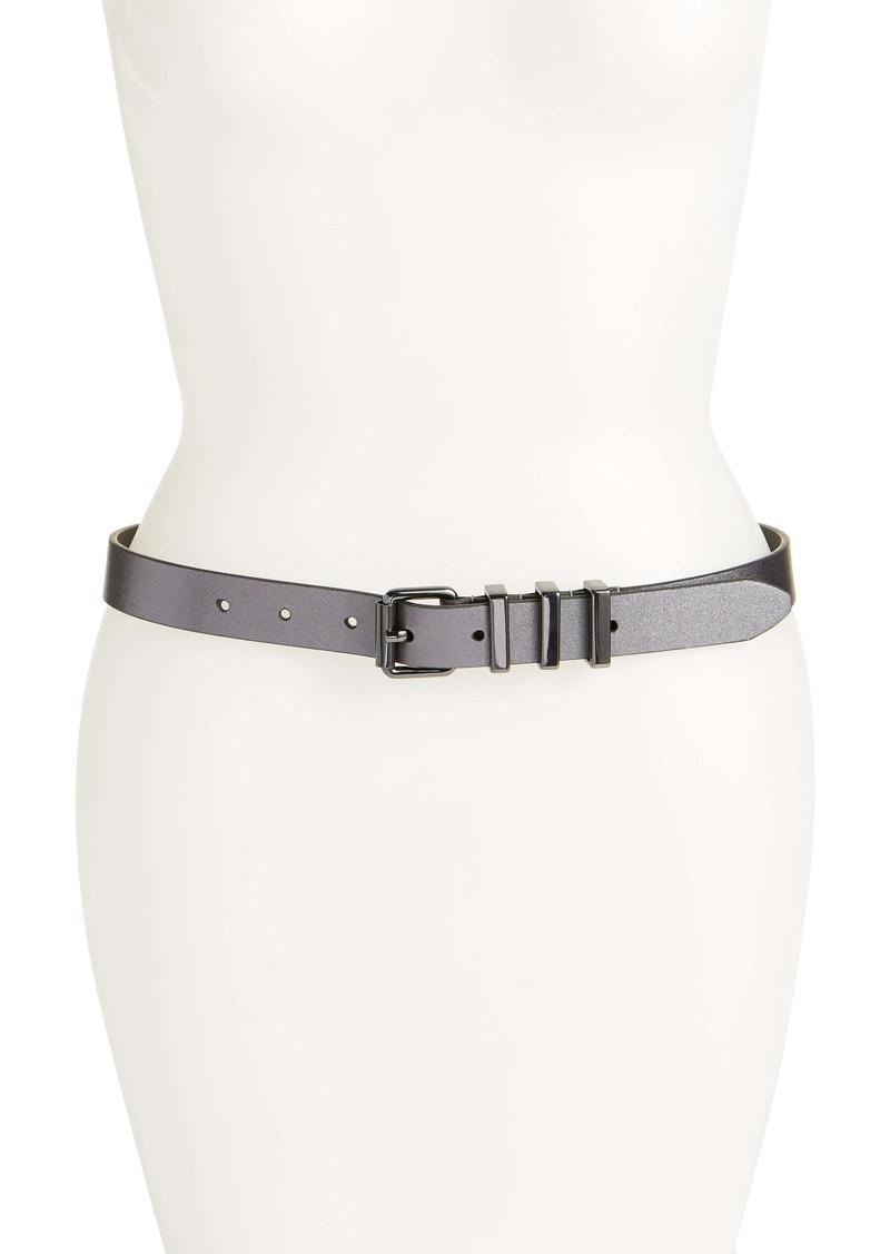 Rebecca Minkoff Suzy Metallic Leather Belt