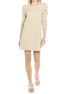 Rebecca Minkoff Talia Stripe Puff Long Sleeve Cotton Dress