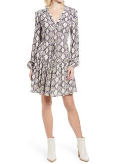 Rebecca Minkoff Vanessa Snake Print Long Sleeve Dress