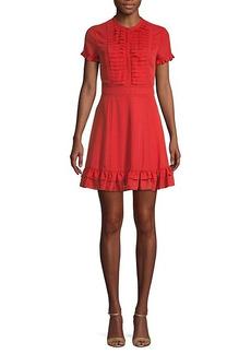 Rebecca Minkoff Ruffled Mini Fit-&-Flare Dress