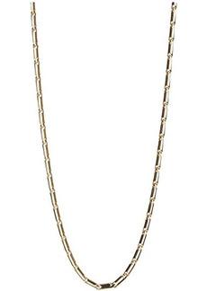Rebecca Minkoff Textured Bar Chain Necklace