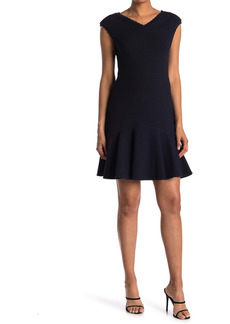 Rebecca Taylor Anna Scalloped Neckline Dress