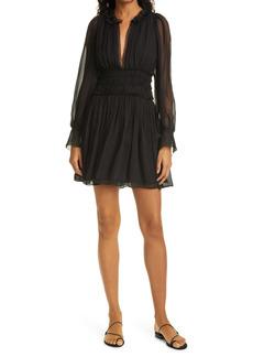 Rebecca Taylor Long Sleeve Silk Chiffon Dress