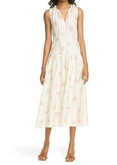 Rebecca Taylor Nora Floral Sleeveless Silk Dress