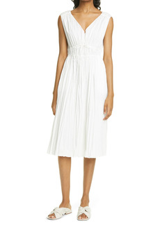 Rebecca Taylor Sleeveless Cotton Blend Broomstick Dress