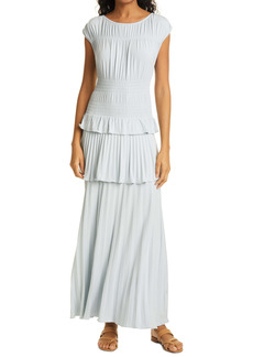 Rebecca Taylor Tiered Pleated Dress