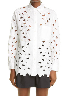 RED Valentino Floral Embroidered Poplin Blouse