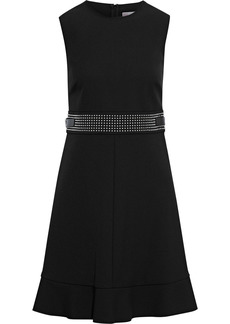 RED Valentino Redvalentino Woman Buckle-detailed Studded Crepe Mini Dress Black