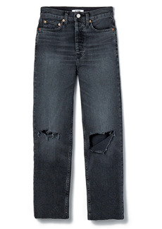 Re/Done '70s Ultra High Waist Stovepipe Jeans