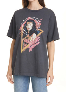 Re/Done '80s Oversize Wonder Woman Graphic Tee