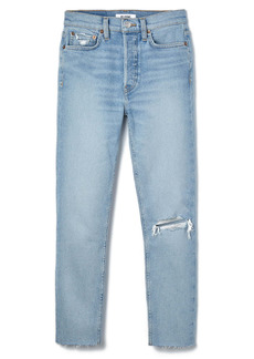 Re/Done '90s High Waist Tapered Skinny Jeans