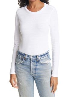 Re/Done Long Sleeve Cotton Bodysuit