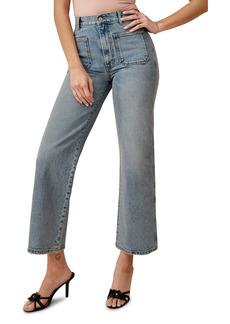 Reformation Alyssa High Waist Front Pocket Wide Leg Jeans (Aden)