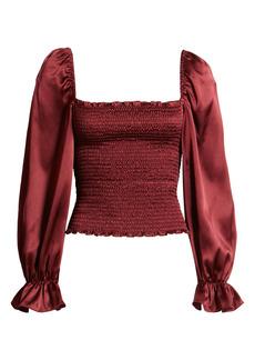 Reformation Chamomile Silk Top