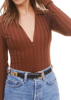 Reformation Jen Long Sleeve Bodysuit