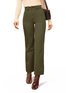 Reformation Marine High Waist Relaxed Fit Ankle Wide Leg Jeans